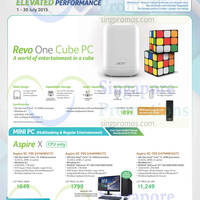 Acer Notebooks, Desktop PCs & Monitors Price List 7 - 31 Jul 2015