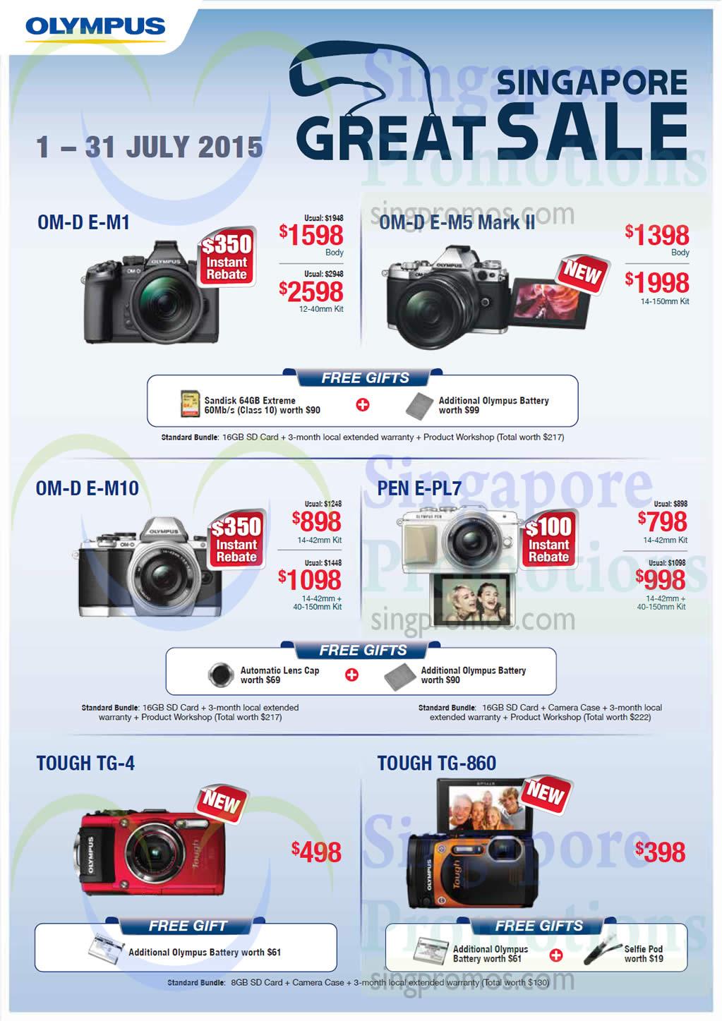 Digital Cameras OM, Pen, Tough Series