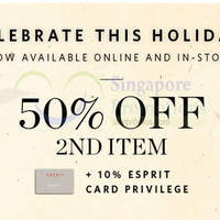 Read more about Esprit 50% Off 2nd Item Promo 16 - 19 Jul 2015