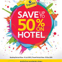 Expedia Up To 50% Off Hotels 8 - 14 Jul 2015