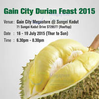 Gain City $58 Free Flow Durian Feast 16 - 19 Jul 2015