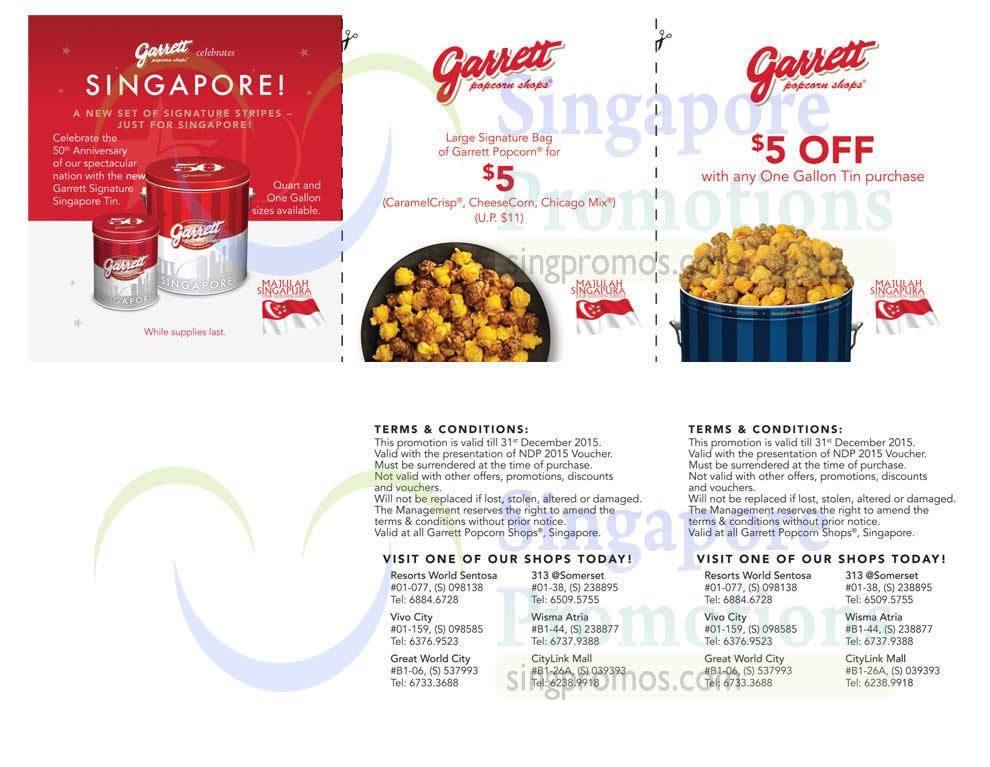 Garrett Popcorn offers an indulgent Chicago snacking tradition to customers all over the world with their collection of novelty foods and gift baskets. As a military service person, you save on CaramelCrisp, Buttery and other popcorn flavors.
