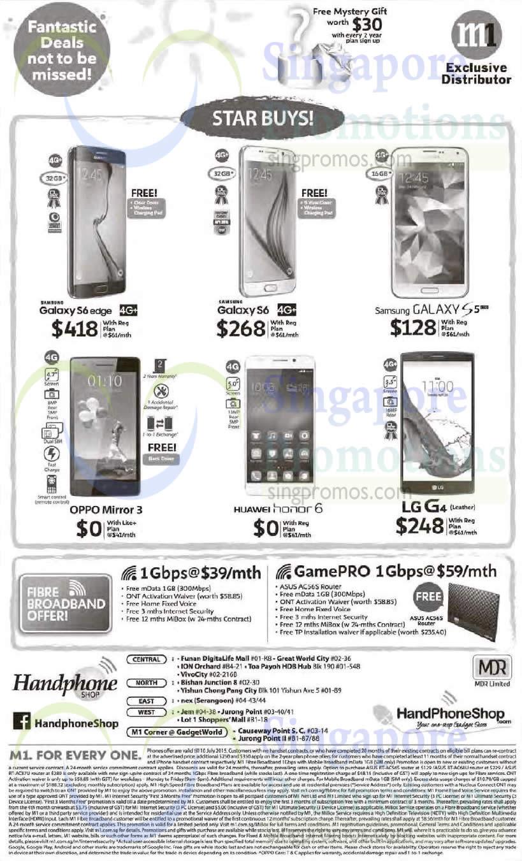 Handphone Shop Samsung Galaxy S6 Edge S6 S5 Oppo Mirror