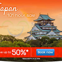 Hotels.Com Up To 50% Off Japan 101 Hour Sale 28 - 31 Jul 2015