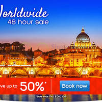 Hotels.com Up To 50% Off 48hr Worldwide Sale 8 - 9 Jul 2015