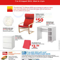 Read more about IKEA Mega Sale Featuring $50, 50% Off & 50 Cent Offers 6 - 23 Aug 2015
