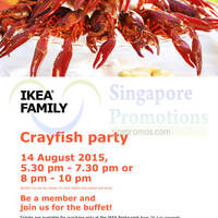 Read more about IKEA Crayfish Party ($20 per pax) 14 Aug 2015