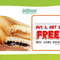 Read more about Jollibean 1 for 1 Mee Jiang Kueh Coupon 25 - 27 Jul 2015