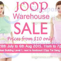 JOOP Warehouse Sale 1 - 6 Aug 2015