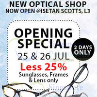 Read more about Kimpo-Do Optical Shop 25% Off Opening Promo @ Isetan Scotts 25 - 26 Jul 2015
