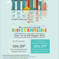 Kinokuniya 10% OFF Storewide Promotion @ Ngee Ann City 1 - 5 Aug 2015