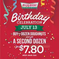 Read more about Krispy Kreme $7.80 2nd Dozen 1-Day Promo 13 Jul 2015