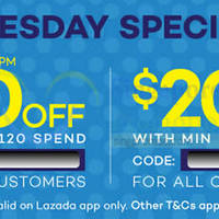 Read more about Lazada $20 to $30 OFF min $120 Spend Storewide Coupon Codes 14 Jul 2015