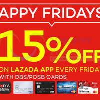 Lazada 15% Off 1-Day Promo For DBS/POSB Cardmembers (NO Min Spend) 31 Jul 2015