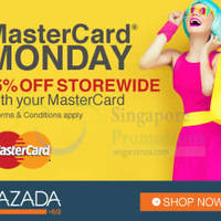 Read more about Lazada 15% Off MasterCard Monday (NO Min Spend) Promotion 27 Jul 2015
