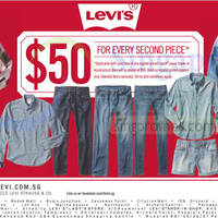 Read more about Levis $50 Second Piece Promo 24 Jul 2015