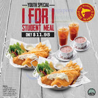 Manhattan Fish Market 1 for 1 Student Deal (11am to 5pm Weekdays) 7 - 31 Jul 2015