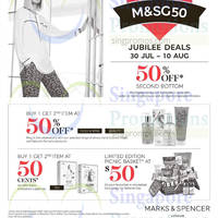 Read more about Marks & Spencer 50% Off Jubilee Deals 30 Jul - 10 Aug 2015