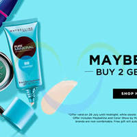Maybelline Buy 2 Get 1 FREE 1-Day Online Promo 29 Jul 2015