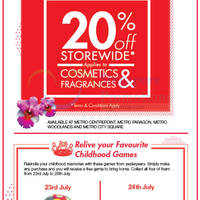 Read more about Metro 20% Off Storewide Promotion 23 - 26 Jul 2015