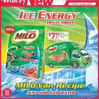 Read more about Milo New Ice Energy Milo Van Recipe Pack 24 Jul - 6 Aug 2015