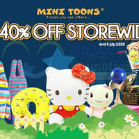 Mini Toons 40% Off Storewide w/ Free Shipping 1-Day Promo 6 Jul 2015
