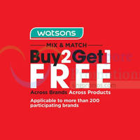 Read more about Watsons Buy 2 Get 1 Free Mix & Match Promotion 28 Jul - 10 Aug 2015