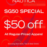 Nautica $50 Off SG50 Special 31 Jul - 10 Aug 2015