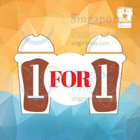 O'Coffee Club 1 For 1 Iced & Blended Beverages @ 30 Jul - 31 Aug 2015