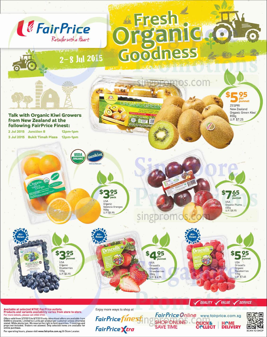 Organic Goodness Kiwi, Oranges, Plums, Blueberries, Strawberries, Raspberries