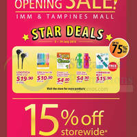 Popular Opening Sale @ IMM & Tampines Mall 3 - 19 Jul 2015