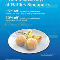 Read more about Raffles Singapore 20% to 25% Off Mooncakes For Citibank Cardmembers 6 Jun - 20 Sep 2015