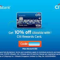 Read more about Rakuten Singapore 10% OFF NO Min Spend Coupon Code For Citibank Rewards Cardmembers 15 Jul 2015 - 29 Feb 2016