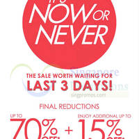 Read more about Robinsons Up To 70% Off Storewide Promotion Last 3 Days 10 - 12 Jul 2015