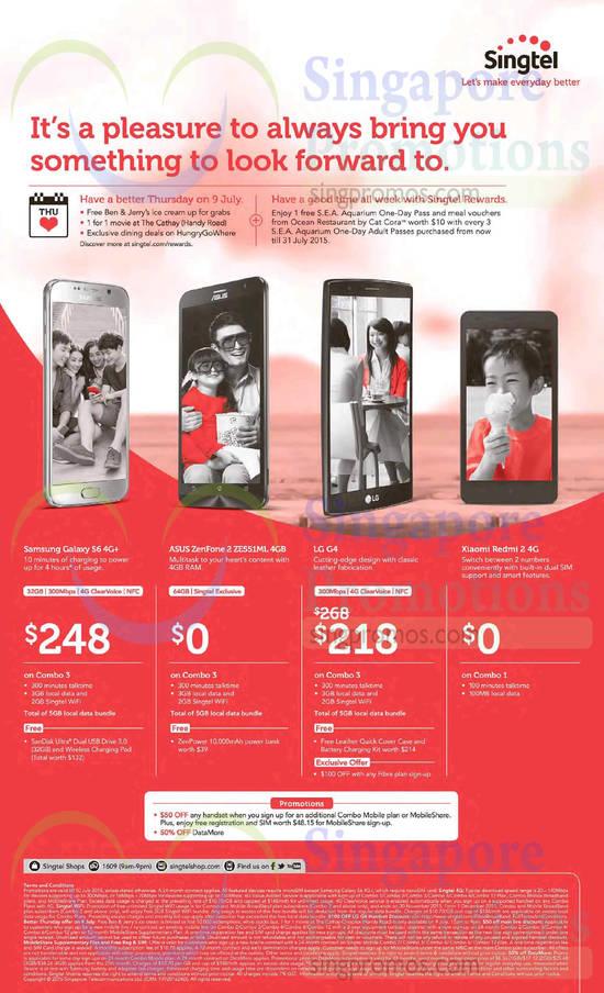 Samsung Galaxy S6, Asus Zenfone 2 ZE551ML, LG G4, Xiaomi Redmi 2