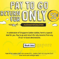 Read more about Scoot Pay to Go, Return For 50 Cents 31 Jul - 2 Aug 2015