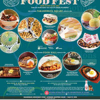 Takashimaya Food Lovers' Fiesta Food Fest 3 - 19 Jul 2015
