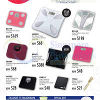 Tanita Health & Home Offers @ Takashimaya 31 Jul - 14 Aug 2015