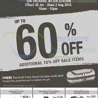 The North Face End Season Sale @ ION Orchard 31 Jul - 2 Aug 2015