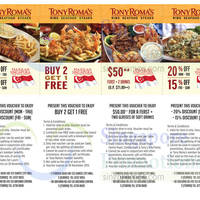 Read more about Tony Roma's Dine-in Discount Coupons 24 Jul - 30 Nov 2015