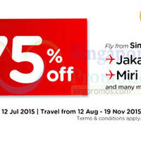Air Asia fr $39 all-in Promo Fares 6 - 12 Jul 2015