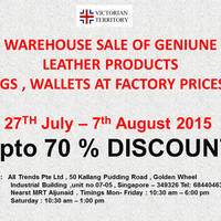 Read more about Victorian Territory Warehouse Sale 27 Jul - 7 Aug 2015