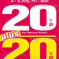 World of Sports 20% Off New Arrivals 3 - 5 Jul 2015