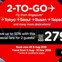 Air Asia fr $39 (all-in) & Up to 50% Off 2-To-Go Fares 3 - 9 Aug 2015
