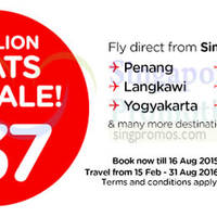 Read more about Air Asia fr $37 (all-in) 3 Million Seats Sale 11 - 16 Aug 2015
