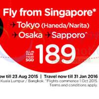 Read more about Air Asia fr $189 Tokyo, Osaka, Sapporo & More Promo Fares 17 - 23 Aug 2015