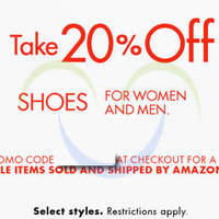 Read more about Amazon.com 20% OFF Shoes (NO Min Spend) Coupon Code 23 Aug - 1 Sep 2015