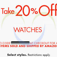 Read more about Amazon.com 20% OFF Watches (NO Min Spend) Coupon Code 16 - 22 Aug 2015