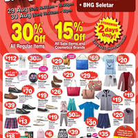BHG 30% Off Storewide Super Sale 29 - 30 Aug 2015
