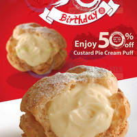 Read more about Beard Papa 50% Off Custard Pie Cream Puff 8 - 9 Aug 2015